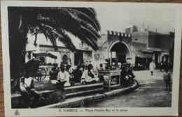 CPA, NABEUL, Place HASSIN-BEY Et La Poste, Photo Albert, Non écrite - Tunisie