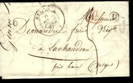 LETTRE DE SEDAN - 1838 - POUR LES VOSGES - Sonstige