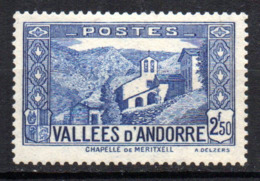 Col17  Andorre N° 87 Neuf X MH  Cote 3,00€ - Andorre Français