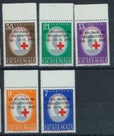 Guatemala 1967 Nobel  Red Cross Croix Rouge Surcharge MNH - Nobel Prize Laureates