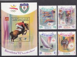 Olympics 1992 - Cycling - Equestrian - EMIRATES - S/S+Set MNH - Summer 1992: Barcelona