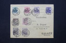 ROUMANIE - Enveloppe De Bucarest Pour Galatz En 1918, Affranchissement Plaisant - L 43539 - Cartas De La Primera Guerra Mundial