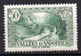 Col17  Andorre N° 65   Neuf X MH  Cote 2,50€ - Andorre Français