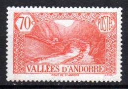 Col17  Andorre N° 69   Neuf X MH  Cote 3,00€ - Neufs
