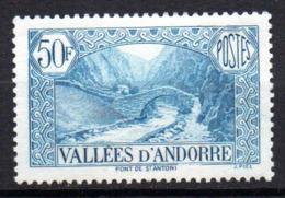 Col17  Andorre N° 92   Neuf X MH  Cote 2,00€ - Andorre Français