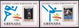 Olympics 1992 - Gymnastics - GRENADA - 2 S/S MNH - Summer 1992: Barcelona