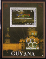 Olympics 1992 - History - GUYANA - S/S Gold MNH - Summer 1992: Barcelona