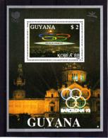 Olympics 1992 - History - GUYANA - S/S Silver MNH - Summer 1992: Barcelona