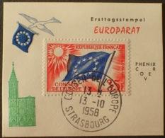 "R1591/512 - 1958 - CONSEIL De L'EUROPE - N°20 - CàD "" Conseil De L'Europe - Strasbourg - 13/10/1958 "" - Service"
