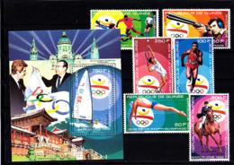 Olympics 1992 - Soccer - Tennis - GUINEA - S/S+Set MNH - Summer 1992: Barcelona