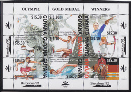 Olympics 1992 - Shooting - Fencing - GUYANA - Sheet MNH - Summer 1992: Barcelona