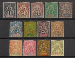 Inde - 1892 - N°Yv. 1 à 13 - Type Groupe - Série Complète - Neuf * / MH VF - Indien (1892-1954)
