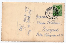1941 YUGOSLAVIA, SLOVENIA, TPO MARIBOR-ZAGREB NO 29, ILLUSTRATED POSTCARD, USED MARIBOR TO BELGRADE, SERBIA - Yugoslavia