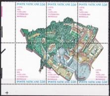 1986, Vatican, 883/88, MNH,  UNESCO-Welterbe: Vatikanstadt. - Unused Stamps