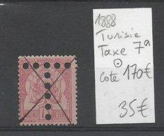 1888 Tunisie, Taxe N° 7a Oblitéré, Cote 170€ - Portomarken