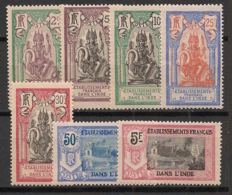 Inde - 1922 - N°Yv. 49 à 55 - Série Complète - Neuf * / MH VF - Indien (1892-1954)