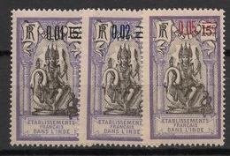 Inde - 1922 - N°Yv. 56 à 58 - Série Complète - Neuf Luxe ** / MNH / Postfrisch - Indien (1892-1954)