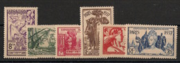 Inde - 1937 - N°Yv. 109 à 114 - Série Complète - Exposition Internationale - Neuf Luxe ** / MNH / Postfrisch - Unused Stamps