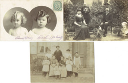 5 PHOTOS DE FAMILLE BELLE EPOQUE - Généalogie
