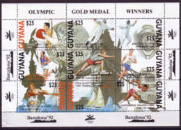 Olympics 1992 - Fencing - GUYANA - Sheet MNH - Summer 1992: Barcelona