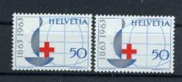Suisse 1963 Nobel  Red Cross Croix Rouge Nuance Couleur  MNH - Nobel Prize Laureates