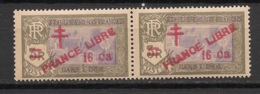Inde - 1943 - N°Yv. 209a - Variété PRANCE Libre Tenant à Normal - Neuf Luxe ** / MNH / Postfrisch - Unused Stamps