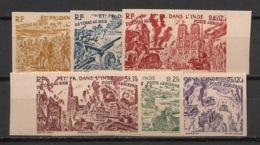 Inde - 1946 - PA N°Yv. 11 à 16 - Tchad Au RHin - Non Dentelé / Imperf. - Neuf Luxe ** / MNH / Postfrisch - Ungebraucht