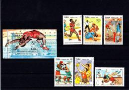 Olympics 1992 - Basketball - CUBA - S/S+Set MNH - Summer 1992: Barcelona