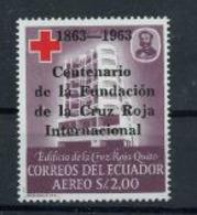 Equateur 1963 Nobel  Red Cross Croix Rouge Surchargé  MNH - Nobel Prize Laureates