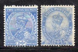 APR1436 - INDIA 1911 , Yvert N. 83+84  * (2380A) . Linguella Forte - Mauritius (...-1967)