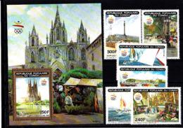 Olympics 1992 - Sailing - CONGO - S/S+Set MNH - Summer 1992: Barcelona