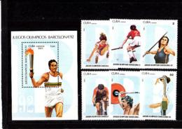 Olympics 1992 - Cycling - CUBA - S/S+Set MNH - Summer 1992: Barcelona
