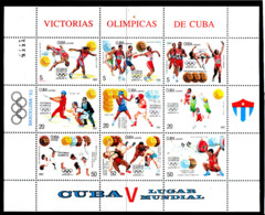 Olympics 1992 - Weightlifting - CUBA - Sheet MNH - Ete 1992: Barcelone