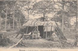 CPA (91) BRUNOY Forêt De Sénart Une Cabanne De Bûcherons Métier Travail Du Bois (2 Scans) - Brunoy