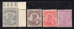 APR1151 - INDIA 1911 , Quattro Valori  */** (2380A) . Molto Freschi - Mauritius (...-1967)
