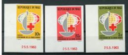Mali 1963 Nobel  Red Cross Croix Rouge Coin De Feuille Daté Imperf  MNH - Nobel Prize Laureates