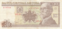 BANCONOTA 10 PESOS CUBA VF (VX974 - Cuba