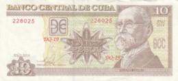 BANCONOTA 10 PESOS CUBA VF (VX975 - Cuba