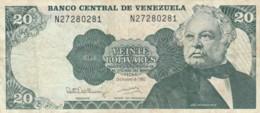 BANCONOTA 20 BOLIVARES VENEZUELA VF (VX981 - Venezuela