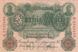 BANCONOTA  1908 50 MARCHI GERMANIA VF (VX969 - 50 Mark