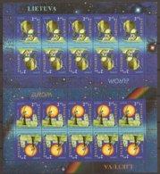 "LITUANIA / LITHUANIA / LITAUEN /LITUANE  - EUROPA 2009 - TEMA ""ASTRONOMIA"" - TWO SHEET Of 10 STAMPS PERFORATED - Europa-CEPT"