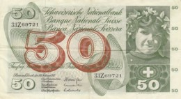 BANCONOTA SVIZZERA 50 FRANCHI VF (VX966 - Svizzera