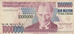 BANCONOTA TURCHIA 1000000 LIRA VF (VX991 - Turchia