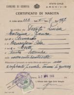 CERTIFICATO DI NASCITA 1948 CON RIMBORSO SPESE COMUNE GENOVA L.5 (VX881 - Italia