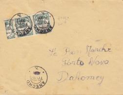 Togo N° 24 ,2 Timbres Et Demi Sur Lettre D'Anecho Pour Le Dahomey ,1915 , 2 Scans - Togo (1914-1960)