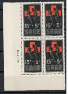 Sarre 1955 Nobel  Red Cross Croix Rouge Coin Daté   MNH - Nobel Prize Laureates