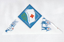 NORTH KOREA - COREA DEL NORTE - 2016 Flag Of The Red Cross Society Of The DPRK - Corea Del Norte