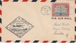 FIRST FLIGHT 1929 CLEVELAND LOUSVILLE SPRINGFIELD OHIO (VX559 - Interi Postali