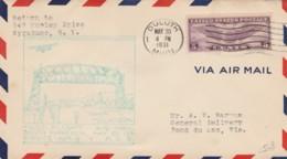 FIRST FLIGHT 1931 DULUTH MINNESOTA FOND DU LAC WIS. (VX562 - Interi Postali