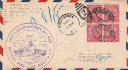 FIRST FLIGHT 1932 PROVIDENCE RHODE ISLAND CITY HALL ANNEX NY (VX573 - Interi Postali